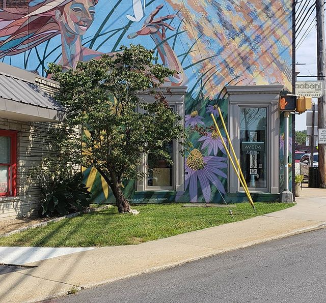 Mural in Downtown Weaverville, NC. . #weaverville #mountains #ncmountains #asheville #art #mural #publicart #creatives #appalachianmountains #samsung #note9 #travel #travelphotography #carync #raleighnc #ncphotographer #thepapurIG