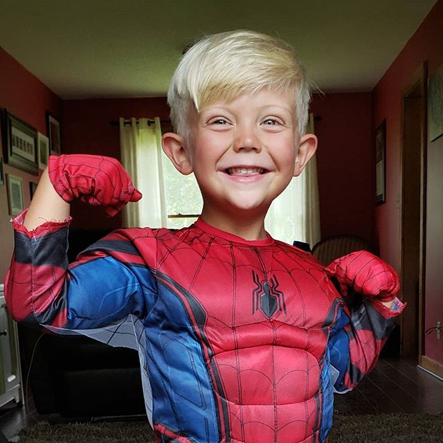 The next Spiderman. . #spiderman #marvel #superhero #costume #blondehairblueeyes #carync #raleighnc @marvel @marvelstudios
