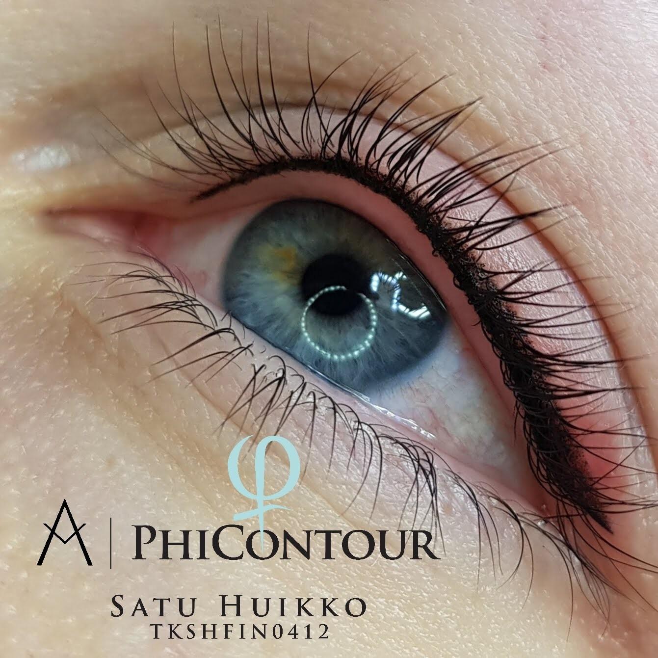 Eyeliner pigmentointi heti ensimmäisen käsittelyn jälkeen.