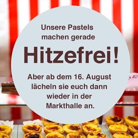 We are so sorry, but our pastels are lying on the beach right now.. and couldn't make it to @markthalleneun today. 💦✌️☀️ . . . #hitzefrei #bekarei #vacation #summertime #summerinberlin #leteaberlin #berlin #markthalleneun #huffpostetaste #foodporn #pasteldenata #pasteldebelem #pastel #pastelove #pasteleriaartesanal #feedyoursoull #berlinfoodie #berlin365 #goodeats #berlinfood #foodberlin #tastingtable #berlinstagram #foodporn #foodies #streetfoodmarket #pastries #gourmand #portugues #foodlove #berlintour