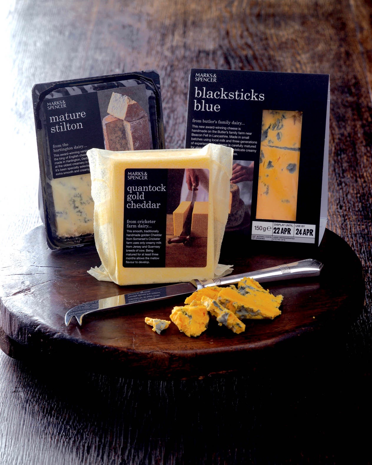 'Speciality' cheese packaging copy for M&S