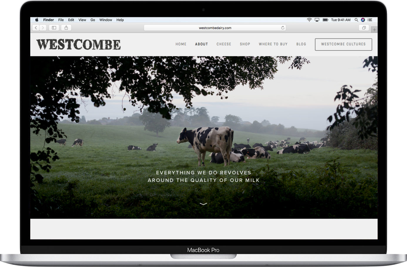 Westcombe Dairy 'about'