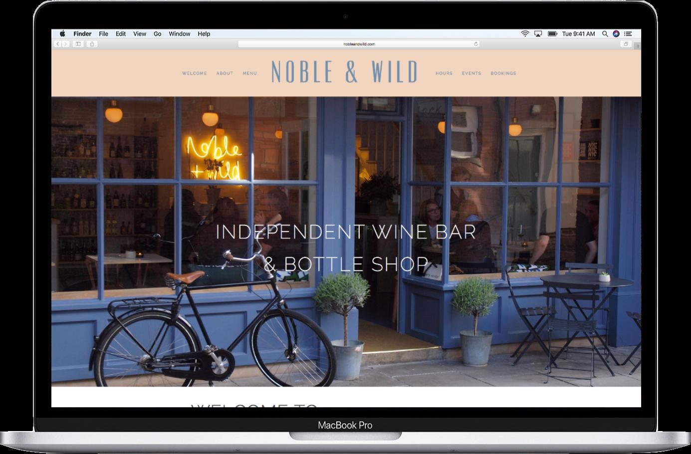 Noble & Wild website