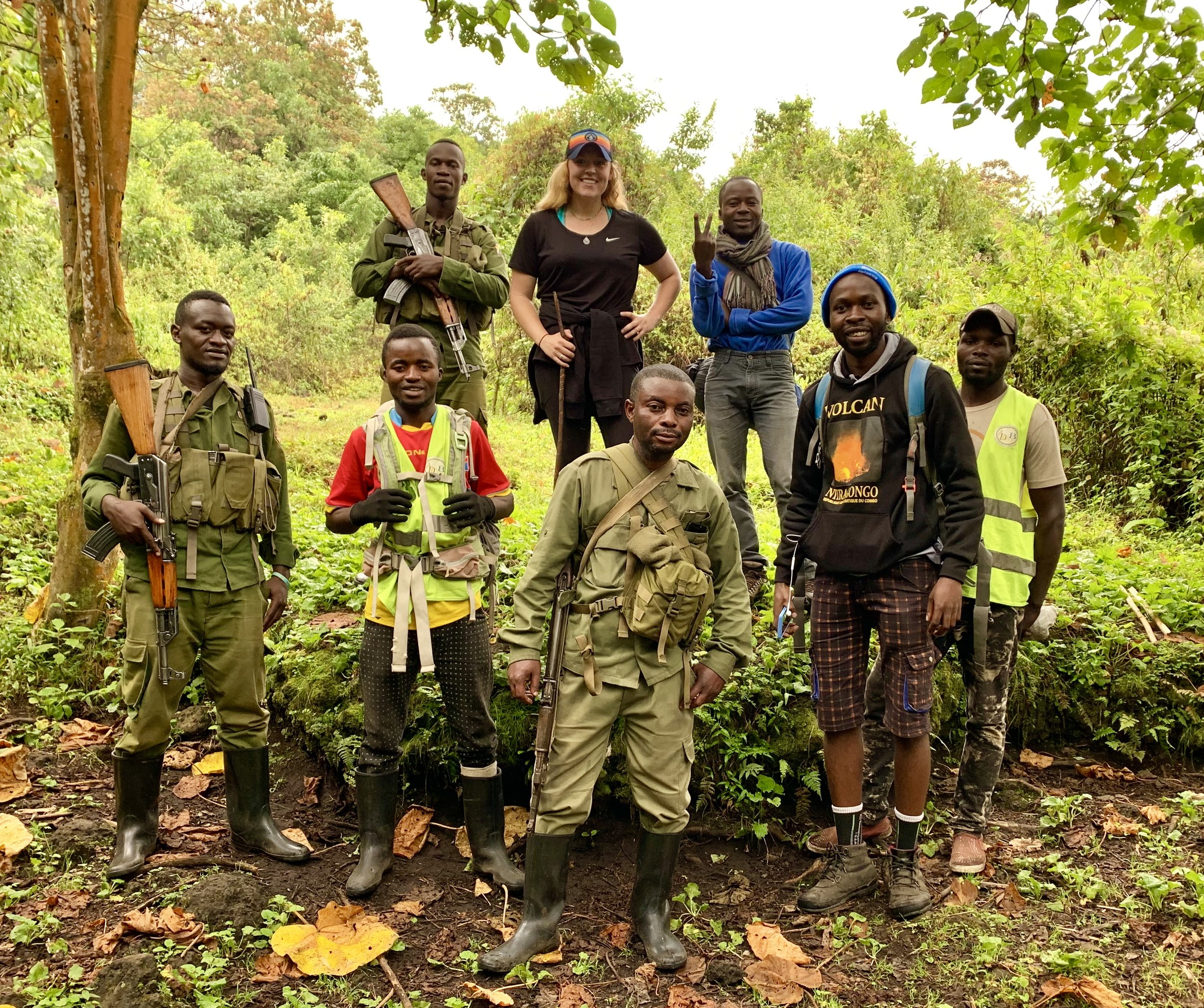 Of course we had to get a team picture. My guides, rangers, porters, and cook were amazing!
