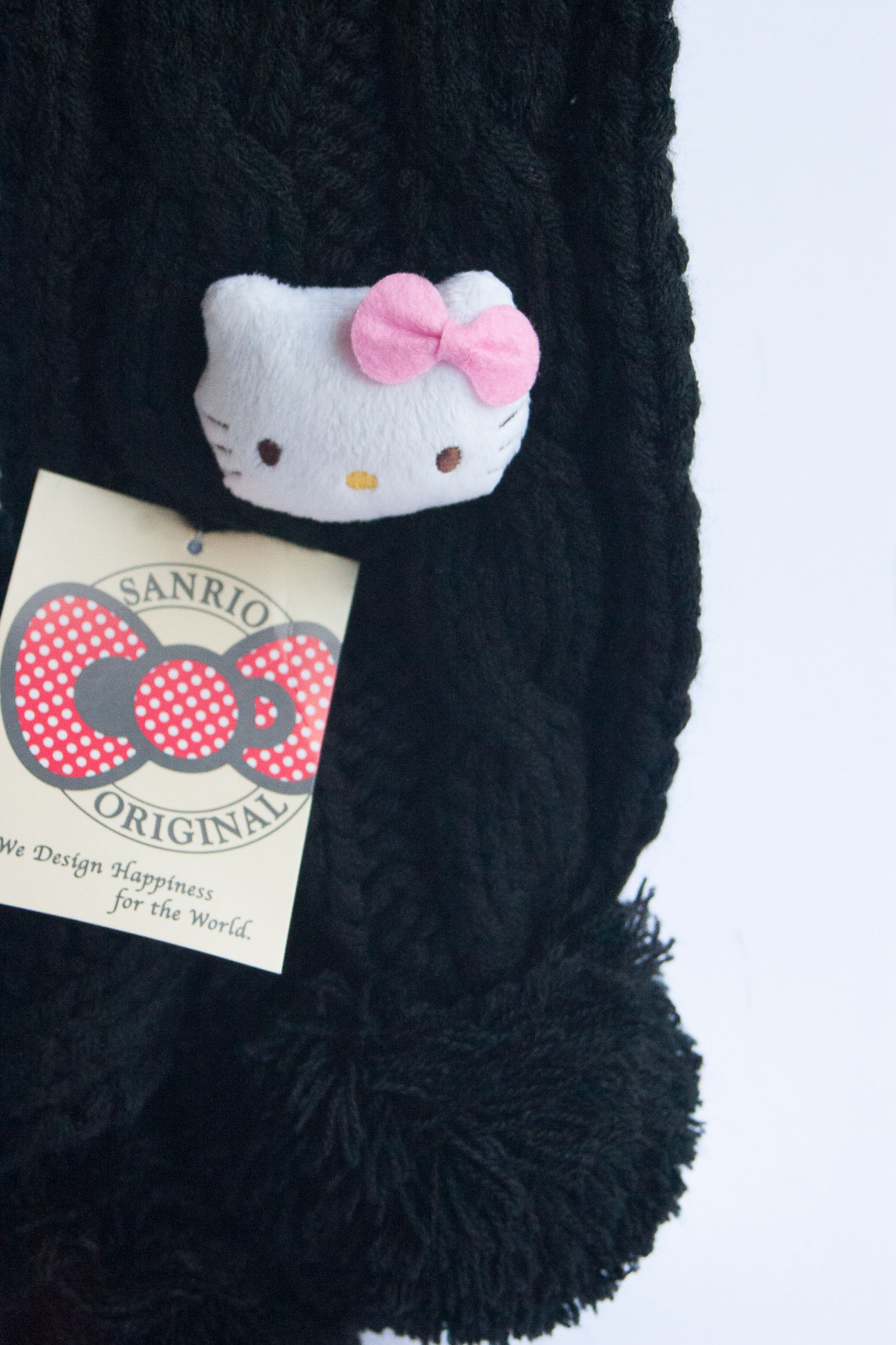 Hello Kitty Soft Black Mascot Scarf
