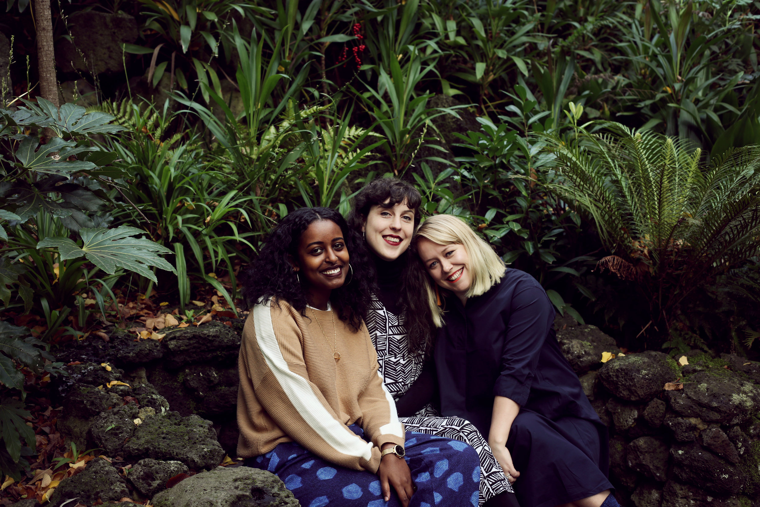Broadwave Co-Founders (L-R) Areej Nur, Izzy Roberts-Orr, Bethany Atkinson-Quinton. Photos by  Leah Jing