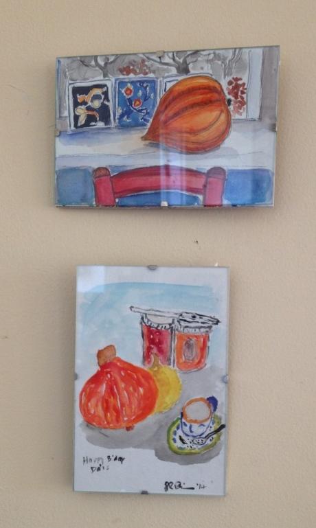 Watercolor competition. Top:  Sarah Pattison ; Bottom: JR Pattison