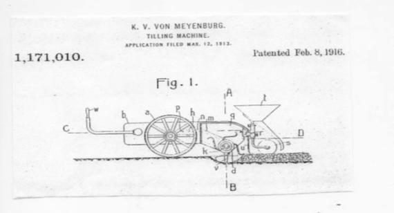 Von Meyenburg 1916 Tilling Machine. Photo courtesy  Rensselaer County Historical Society .