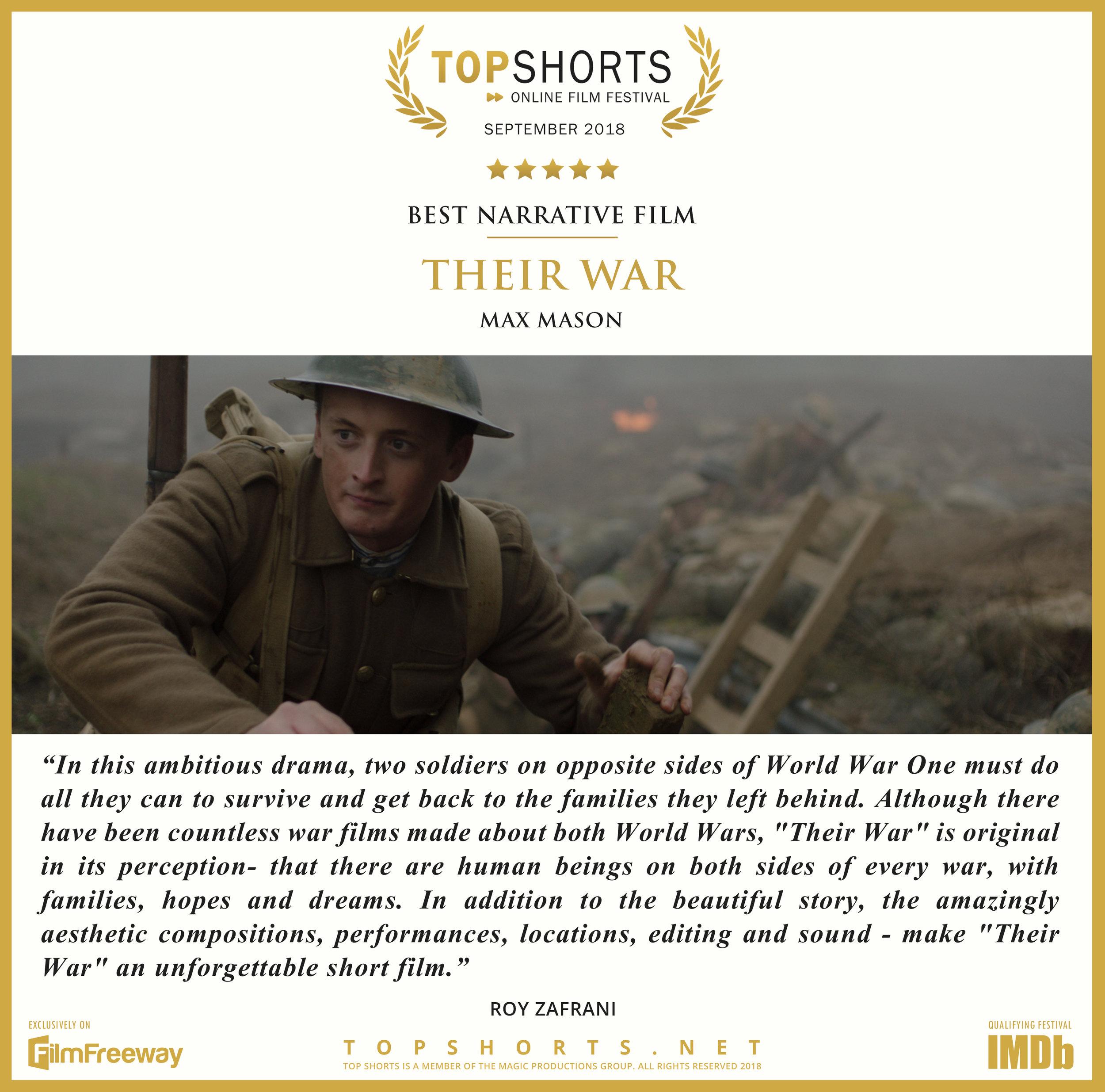 2018 09 Best Narrative Film - THEIR WAR.jpg