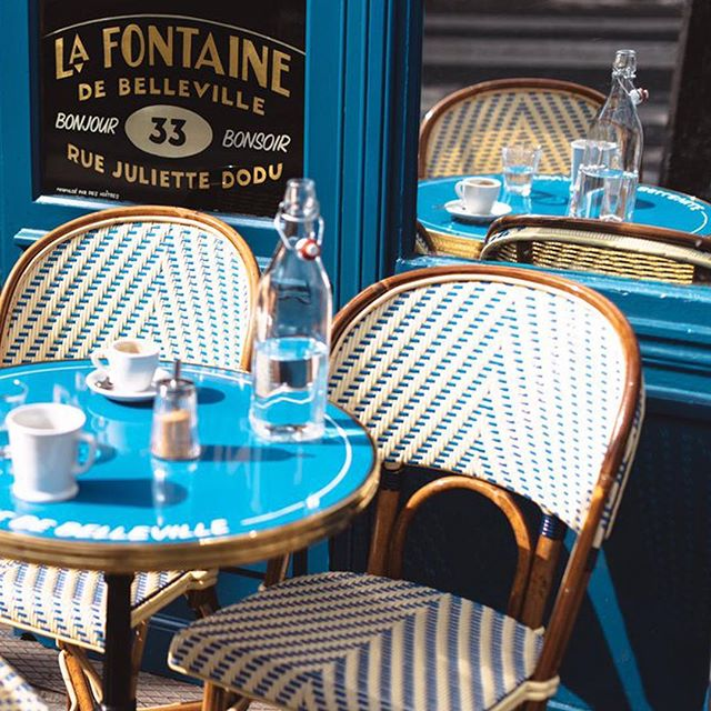 La Fontaine de Belleville, Jazz Coffee & Brunch restaurant near by the Canal Saint Martin . . . . . . . . #lafontainedebelleville  #parisianstylecafe  #canalsaintmartin  #summermood