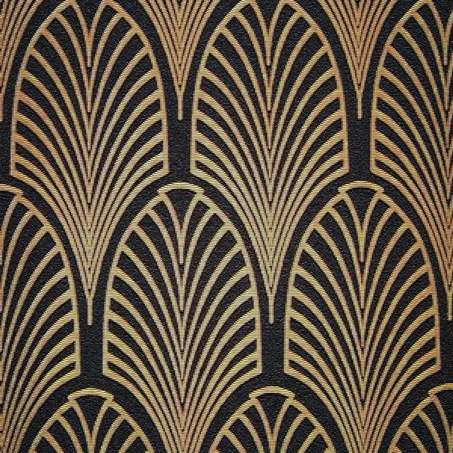 Art Deco black & gold patten textile wallpaper from the 30's . . . . . . . . . #artdecostyle  #year30  #timelesselegance  #chicdesign