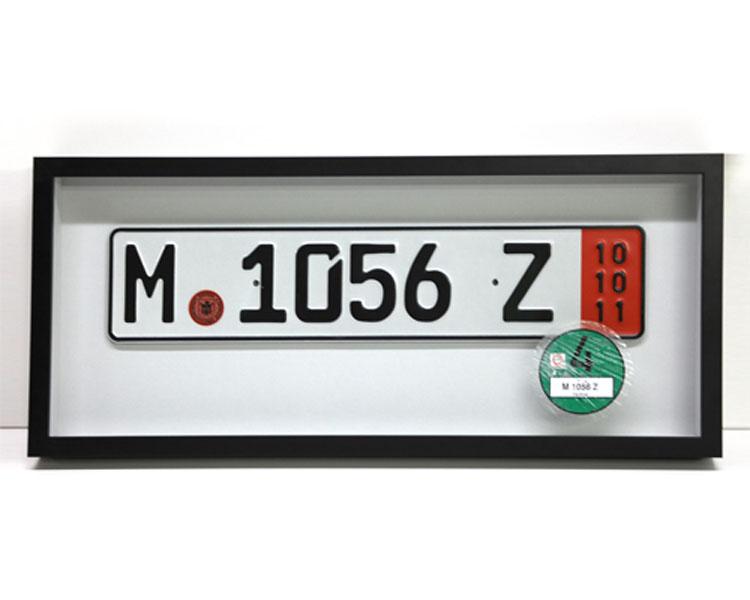 European License Plate Shadow Box