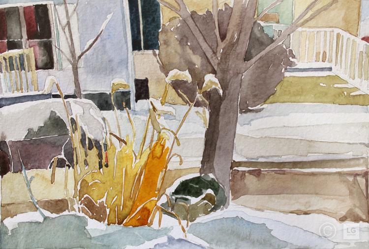 Yard View, Dusk