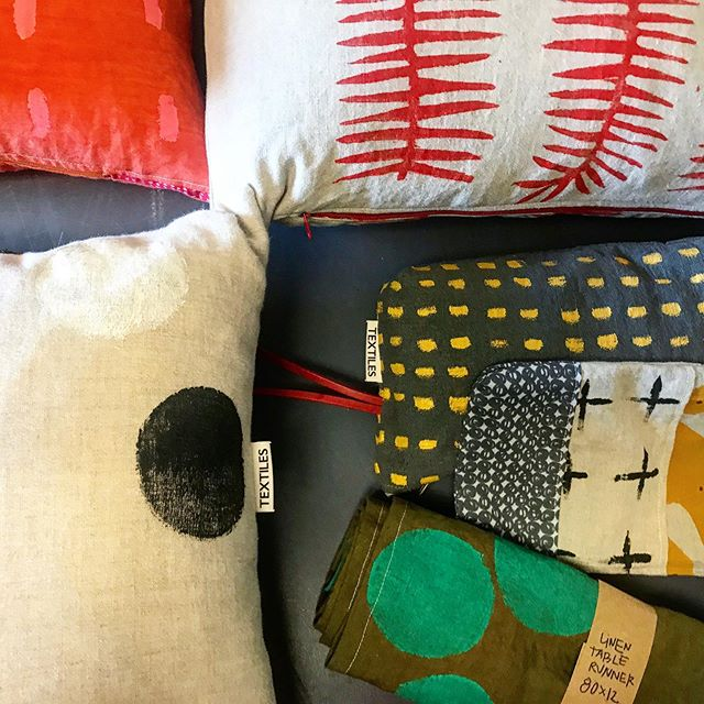 New beauties from @bmotextiles are in this week! Lovely textures and colors combine to make the perfect accessories for your comfy space.