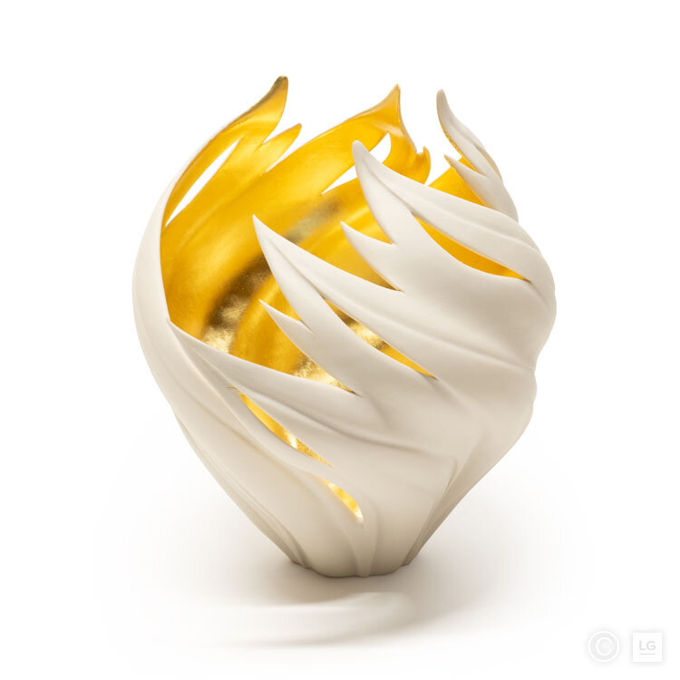 Gilded Flame Vessel