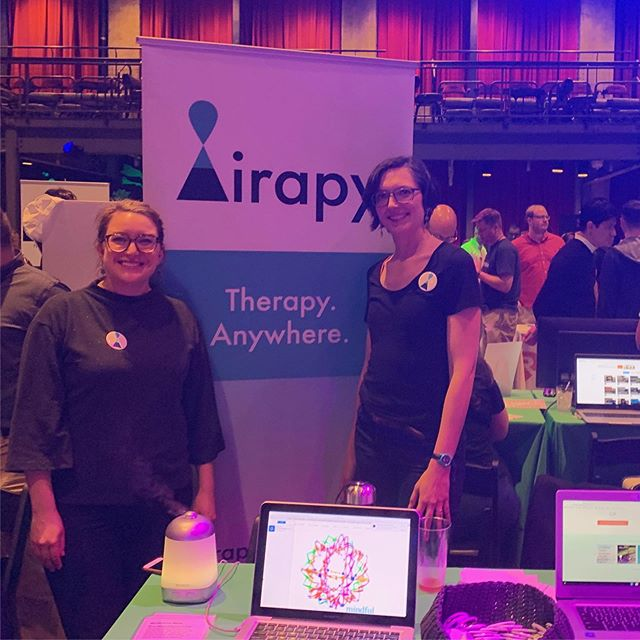 We attended our first expo last night and we talked to approximately 1,000,000 people about Airapy 😜thanks to @startupleaders and @groupkdiagnostics for our sponsored table. . . . . . . #airapy #philly #phillytherapy #phillyphilly #walkandtalktherapy #whyilovephilly #phillycounseling #lpc #lcsw #mentalhealthaccess #mentalhealthawareness #mentalhealth #behavioralhealth #accessiblehealthcare #affordablehealthcare #accessibility #behavioralhealthawareness