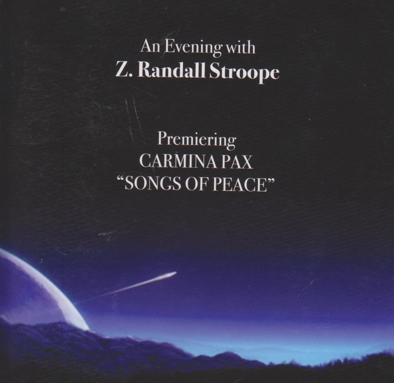The wonderful, emotion-provoking compositions of Z. Randall Stroope including a piece composed for the Arlington Master Chorale made possible by a grant from the Arlington Cultural Tourism Council.