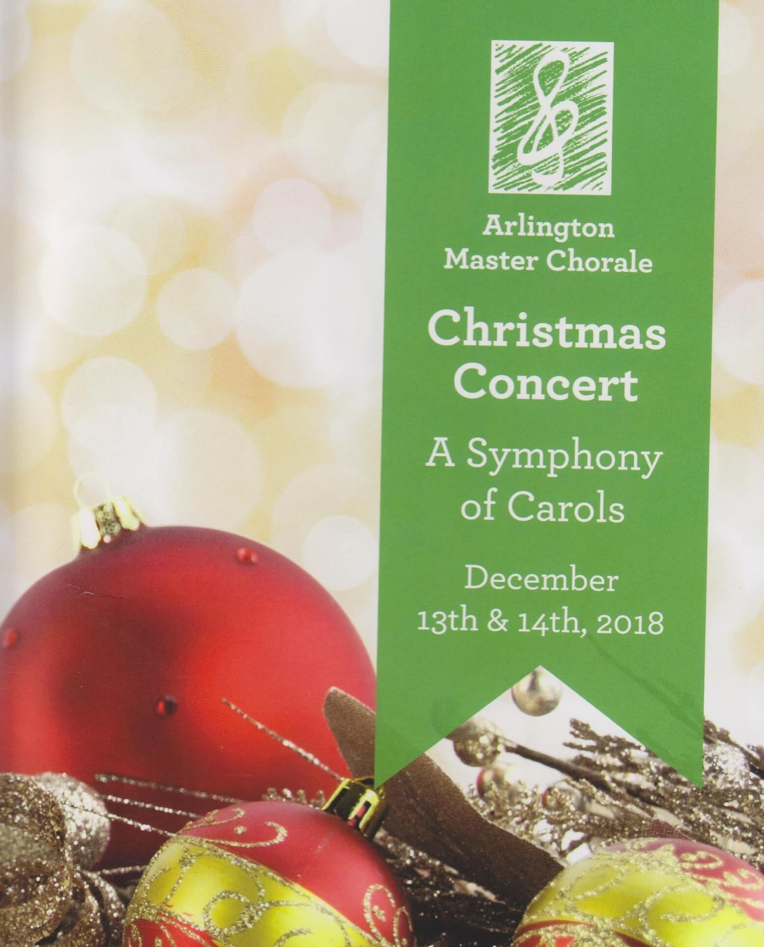 Our annual Christmas Concert including holiday favorites as Deck the Hall, It came Upon the Midnight Clear, and God Rest Ye, with a special performance by the Arlington Children's Chorus.