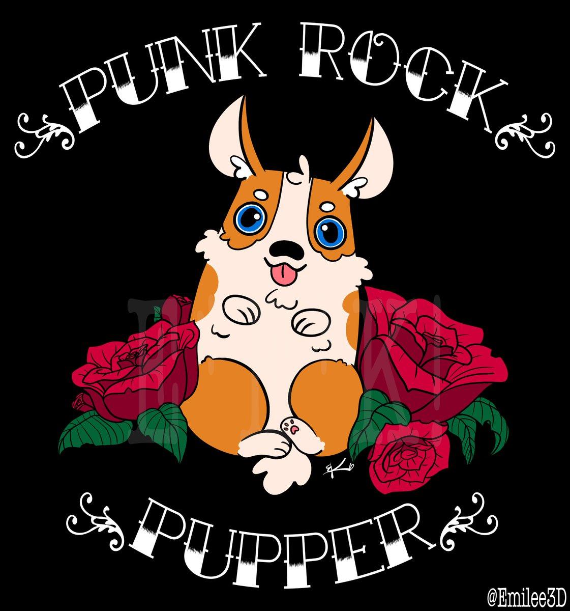 Punk Rock Pupper merchandise graphic design