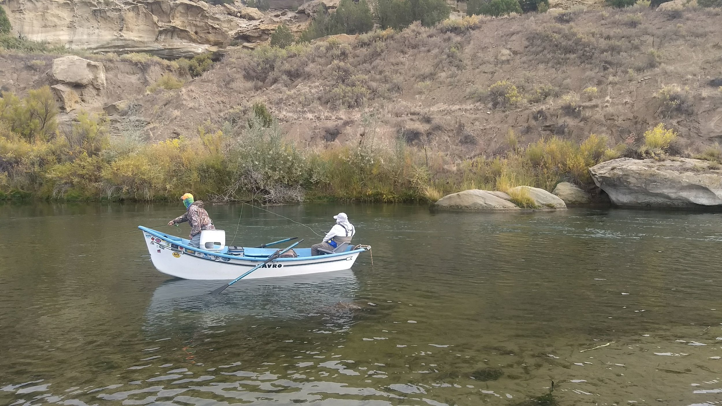 James and Chip floating the Juan