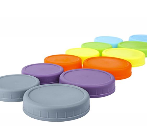 Colorful Mason Jar Lids