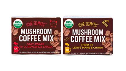 Four Sigmatic Mushroom Coffee 2 pack: Chaga + Lions Mane