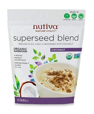 Nutiva Superseed Blend: flax, chia, hemp