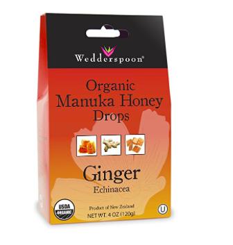Manuka Honey Drops: assorted flavors lemon, ginger, eucalyptus