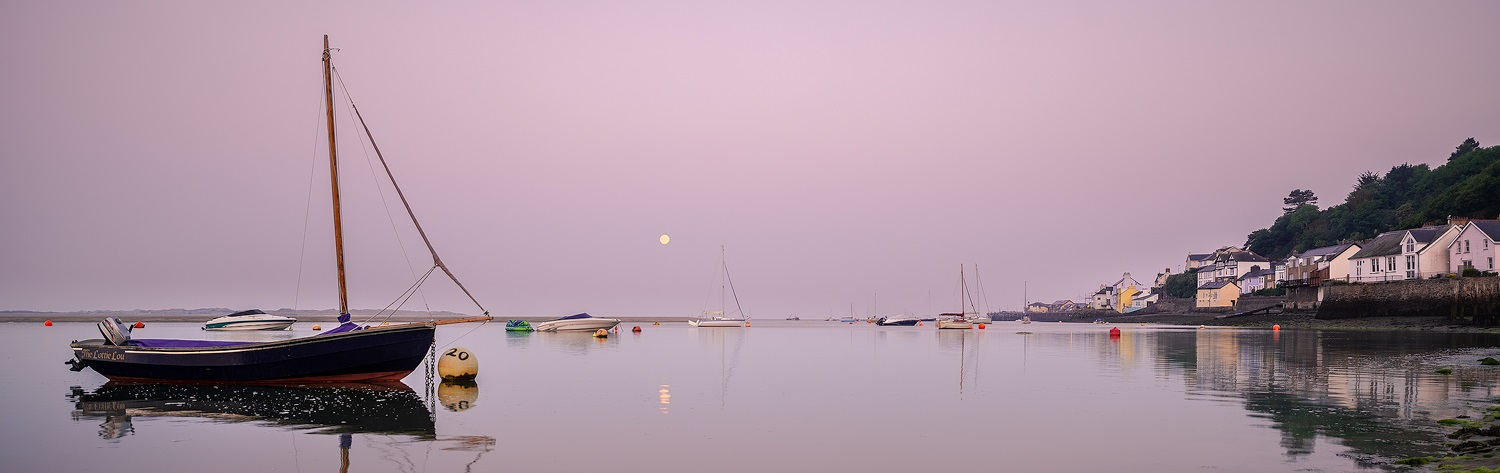 Paul Fowles Photography, Aberdovey Aberdyfi, Moon Set.jpg
