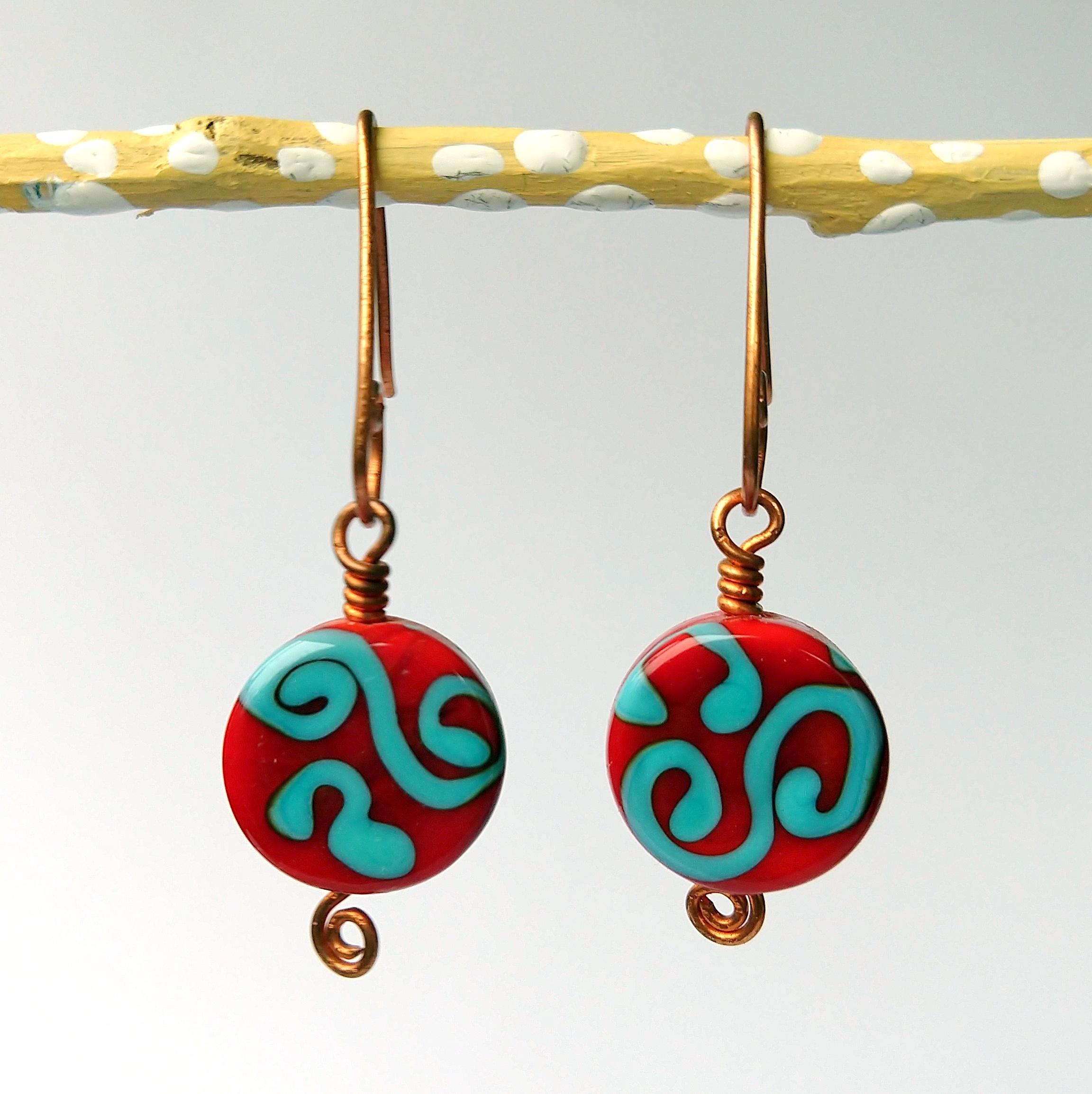 Handmade Glass Bead Earrings, Bitty Bits Mosaics-014.jpg