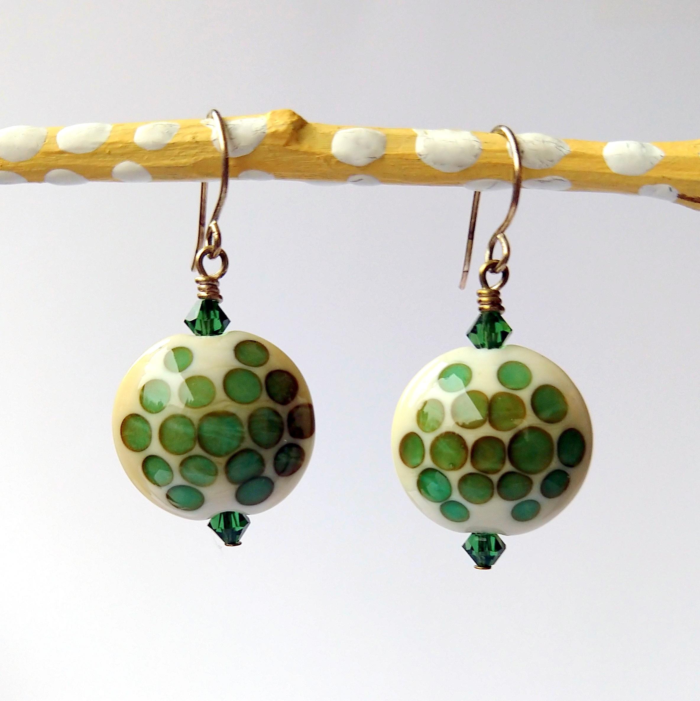 Handmade Glass Bead Earrings, Bitty Bits Mosaics-015.jpg