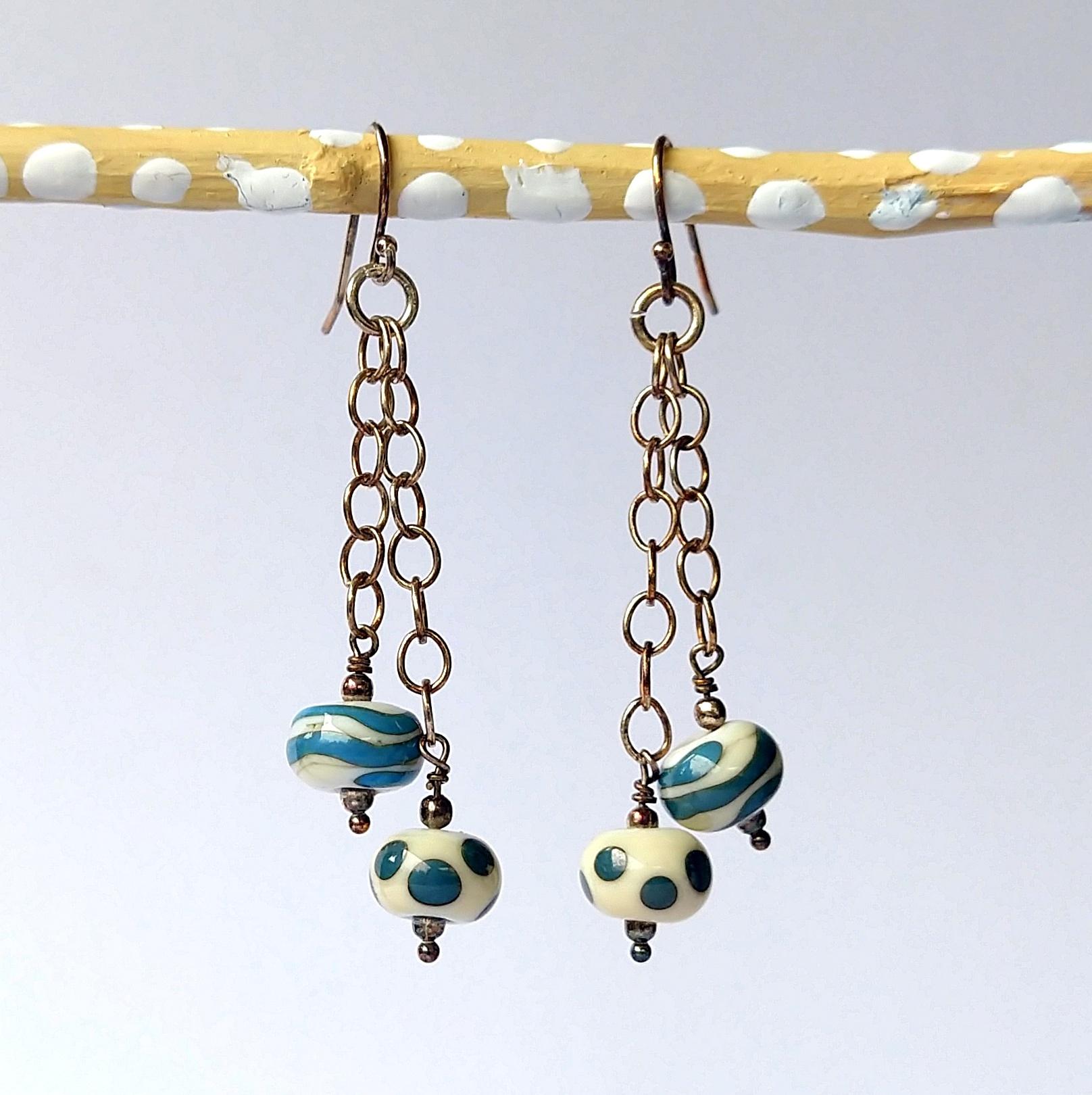 Handmade Glass Bead Earrings, Bitty Bits Mosaics-022.jpg