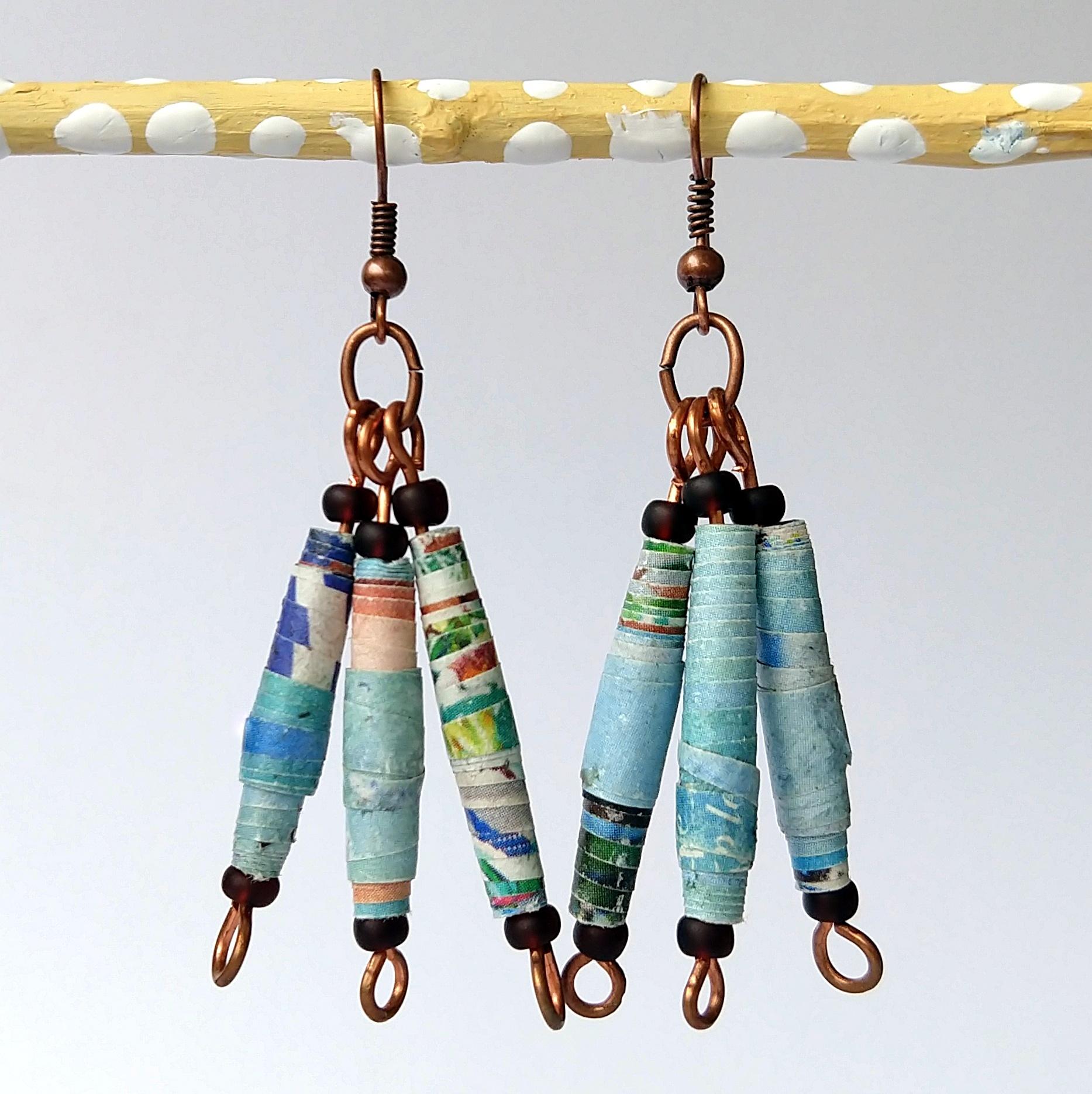 Handmade Glass Bead Earrings, Bitty Bits Mosaics-002.jpg