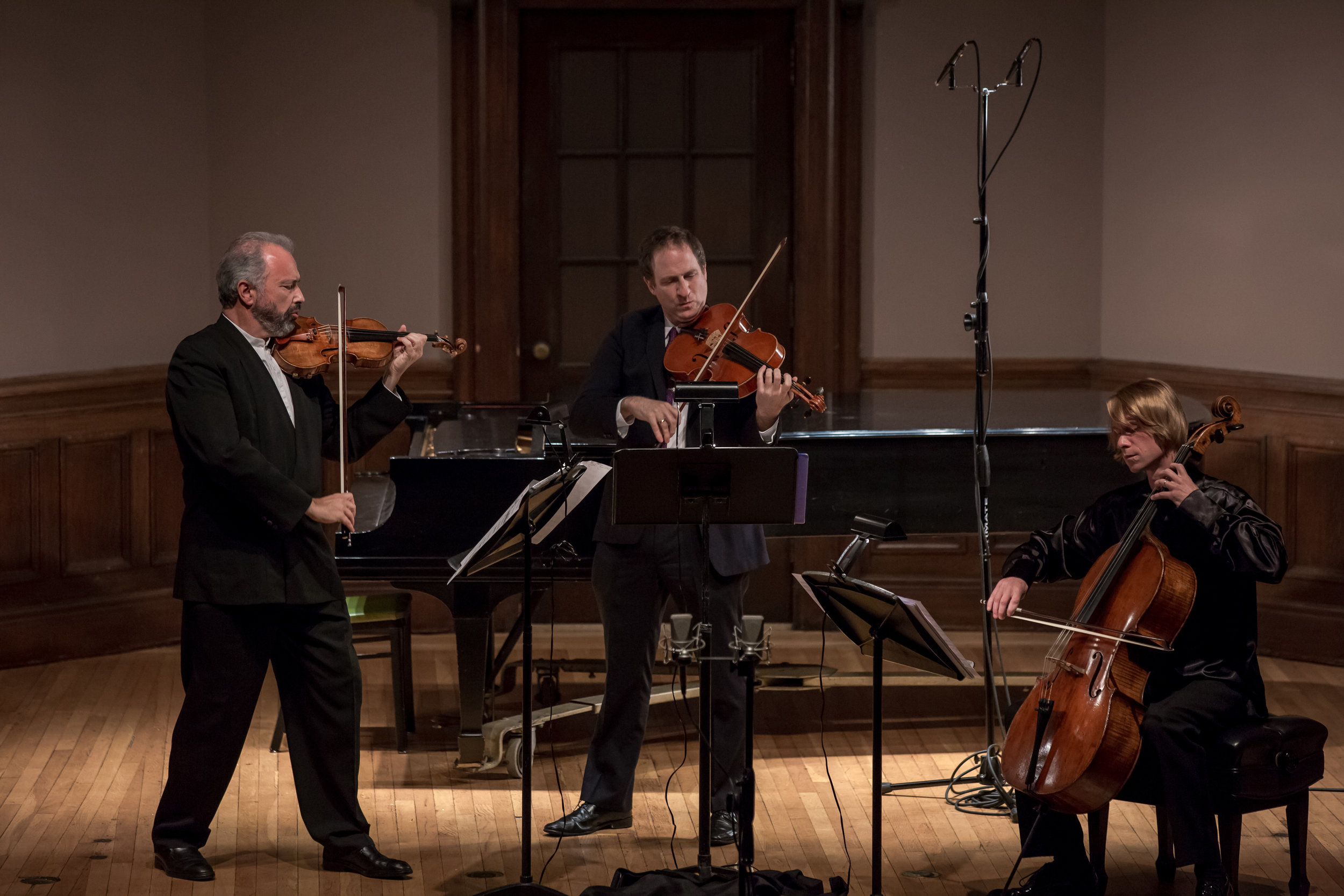 BACH AND MOZART: A LASTING LEGACY - october 5, 2016. italian academyDmitry Sitkovetsky, violinDov Scheindlin, violaSergey Antonov, celloIgnat Solzhenitsyn, pianoIllustrated talk by Paul BerryMozart - Prelude and Fugue in D minor for string trio, K404a No. 1J.S. Bach - Fifteen Sinfonias, BWV 787801 (arr. D. Sitkovetsky)Mozart - Piano Quartet in E flat major, K493