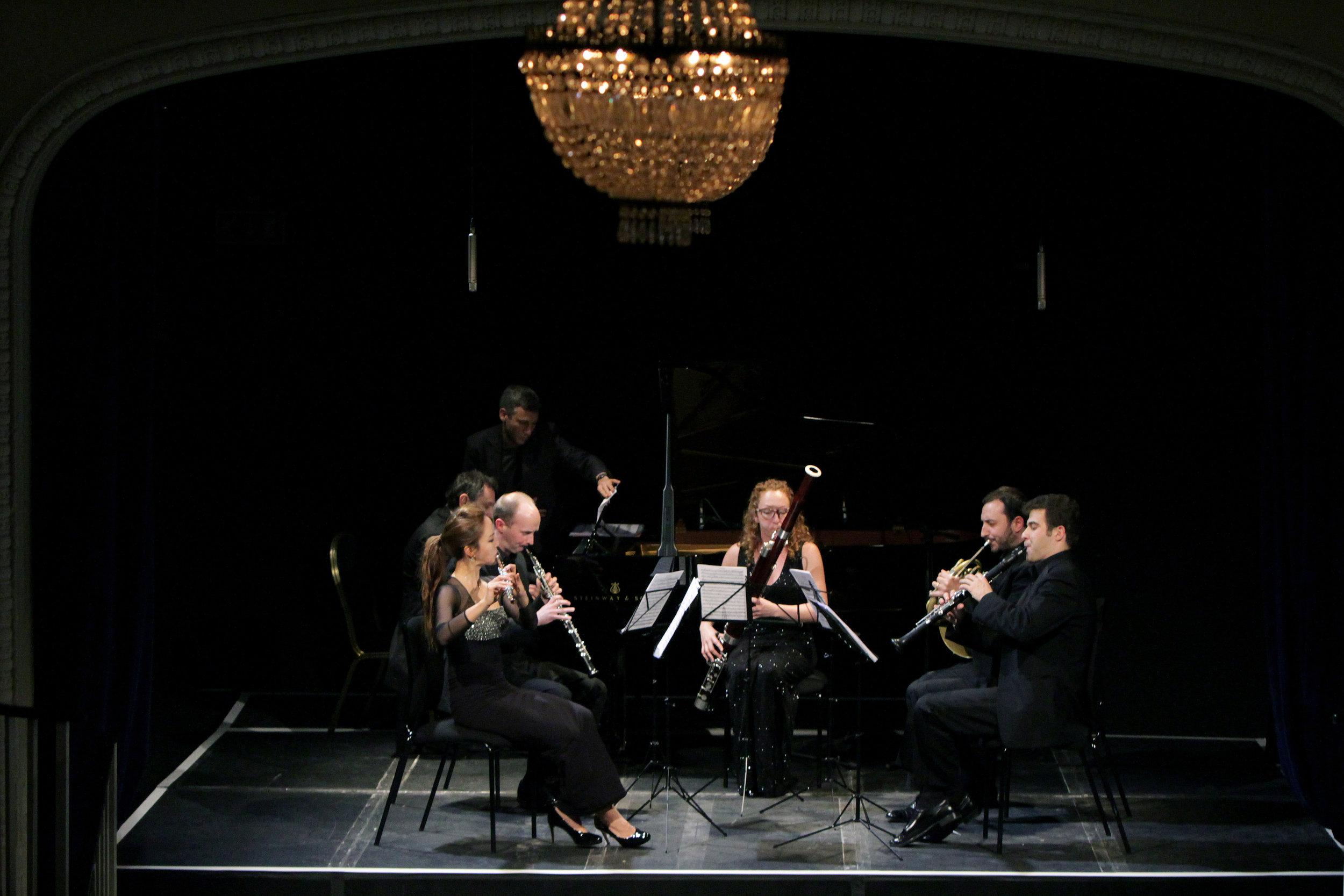 WINDS OF CHANGE: VIENNA, ST. PETERSBURG, PARIS - March 26, 2015. londonVsevolod Dvorkin, pianoJasmine Choi, fluteAlexander Bedenko, clarinetTimothy Rundle, oboeLaura Vincent, bassoonGeremia Iezzi, hornIllustrated talk by Richard WigmoreMozart - Quintet in E flat major for piano and winds, K452Rimsky-Korsakov - Quintet in B flat majorPoulenc - Sextet for piano and wind quintet, Op. 100