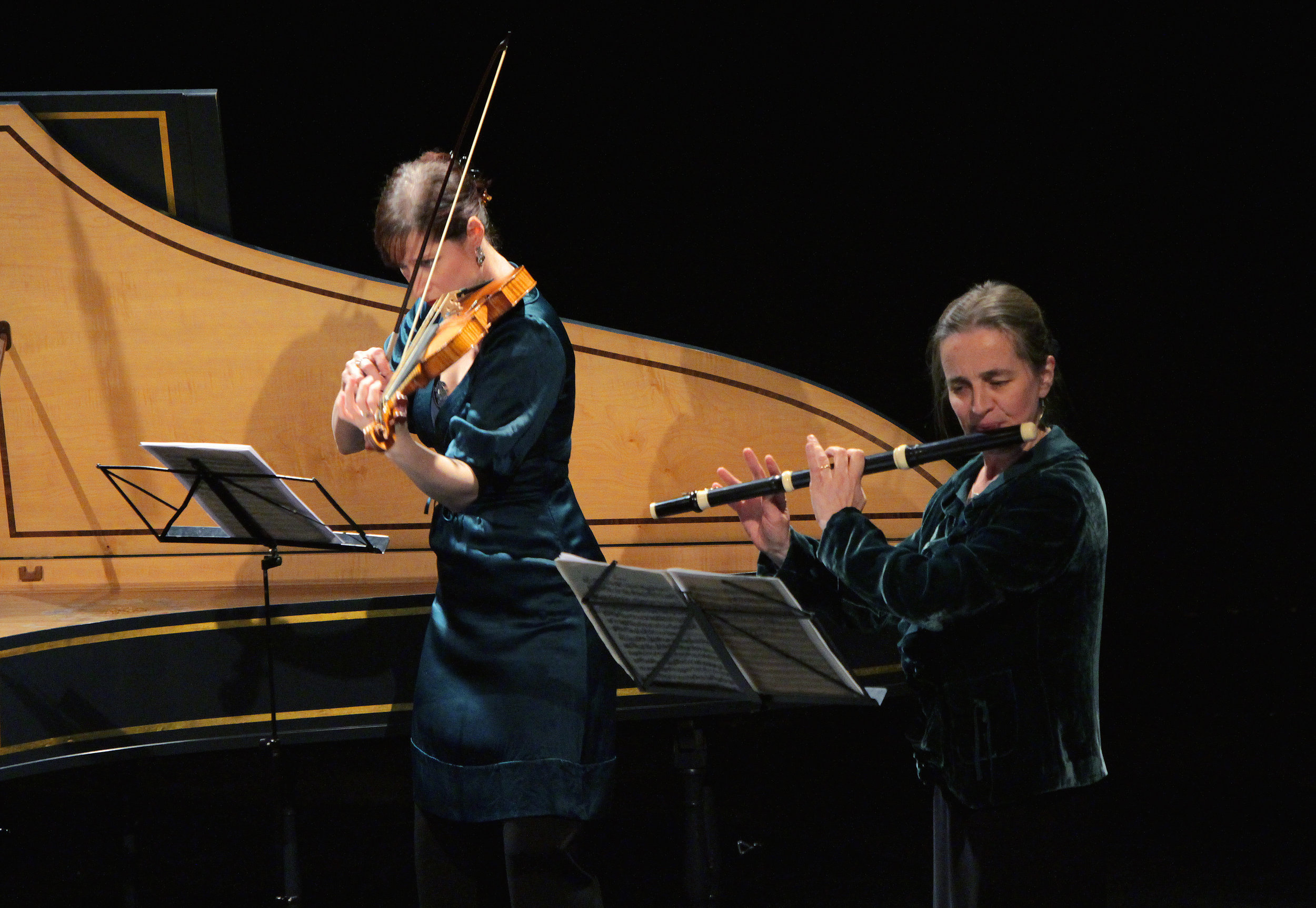 BERLIN: THE AGE OF ENLIGHTENMENT - january 24, 2015. londonRachel Brown, fluteMadeleine Easton, violinRichard Boothby, viola da gambaMahan Esfahani, harpsichordIllustrated talk by Norman LebrechtC.P.E. Bach -Sonata in D major for viola da gamba and harpsichord, Wq. 88Benda -Sonata XI in D major for violin and basso continuoQuantz -Trio Sonata in A minor, QV 2:Anh. 34Frederick II ('the Great') of Prussia -Sonata in C major for flute and basso continuo, SpiF 40J.S. Bach -Trio Sonata in C minor from The Musical Offering, BWV 1079