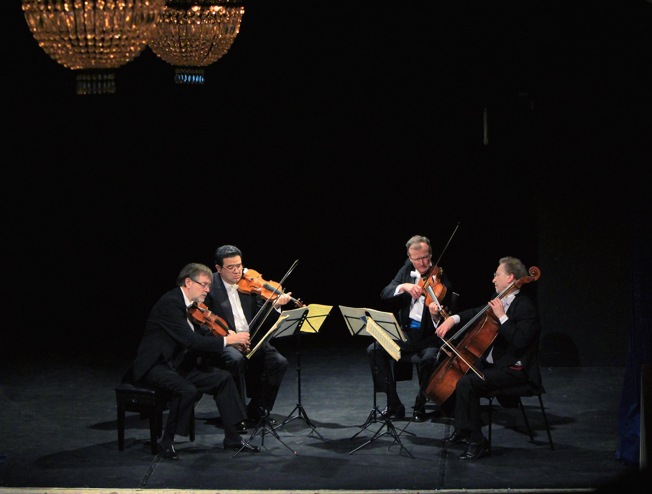 BEETHOVEN. TWENTY-FIVE YEARS OF QUARTET MAKING - february 25, 2015. londonThe Endellion String QuartetPoetry by Ruth PadelBeethoven -String Quartets, Op. 18 No. 6 & Op. 131