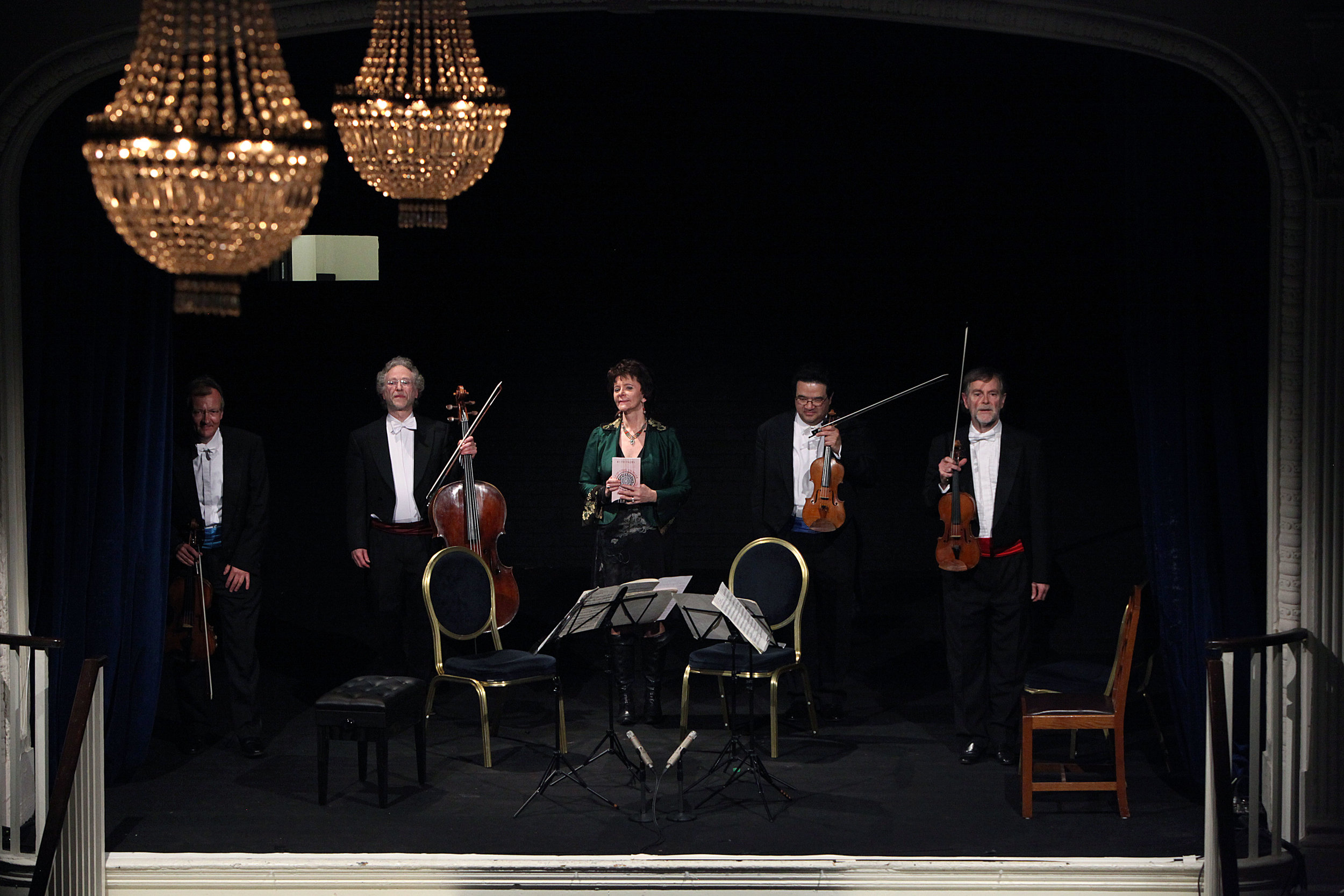 ENDELLION QUARTET. SEVEN LAST WORDS - march 26, 2014. 20th century theater, londonThe Endellion String QuartetHaydn 'Seven Last Words', Op. 51London Première of Poems by Ruth Padel'Seven Words and an Earthquake'