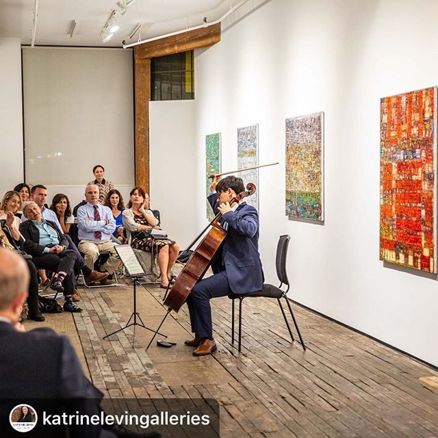 "#Repost @katrinelevingalleries with @download_repost ・・・ Pure magic to have art and music in one place. This is another picture of our post-opening reception concert, presented by @aspectconcertseries and performed by Zlatomir Fung, the winner of this year's Tchaikovsky Competition. ""Bach Exercises"", the exhibition of paintings by the iconic Georgian painter, Levan Lagidze, is on through September 15 @zurcher_gallery in New York. More on my website. Photo credits to @ijungsphoto ⠀⠀⠀⠀⠀⠀⠀⠀⠀⠀⠀⠀ ⠀⠀⠀⠀⠀⠀⠀⠀⠀⠀⠀⠀ ⠀⠀⠀⠀⠀⠀⠀⠀⠀⠀⠀⠀ #levanlagidze #georgianart #aspectconcertseries #zlatomirfung #bach #classical #abstraction #livingwithart #artandmusic #loveart #placeslessexplored #katrinelevingalleries"