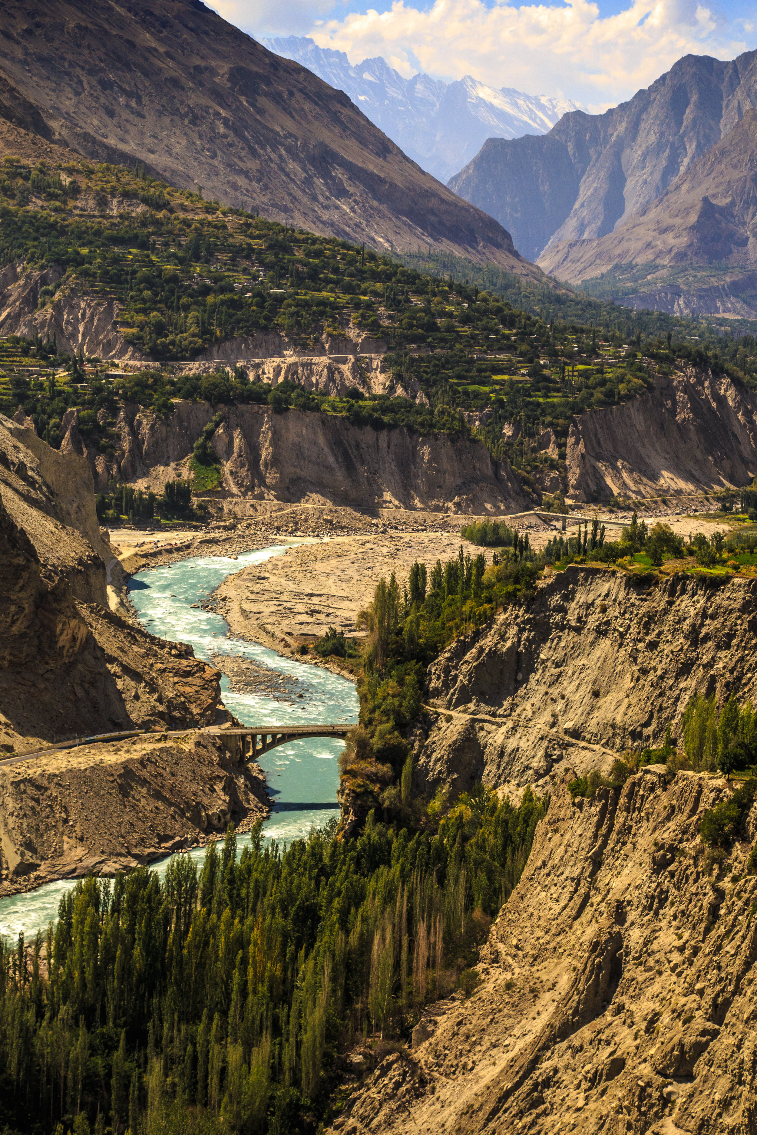 A view of the Hunza River from Baltit Fort