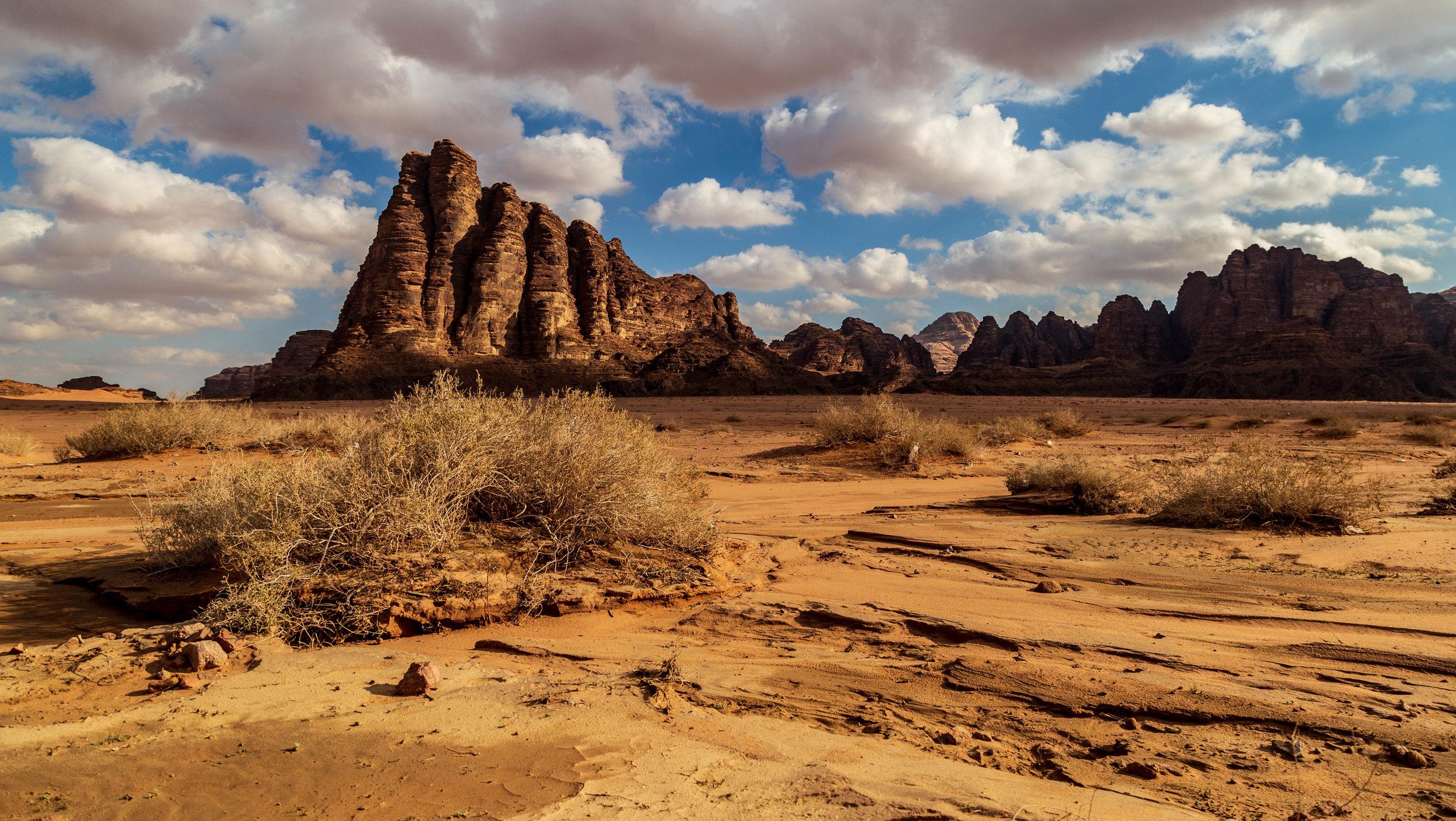 The Seven Pillars of Wisdom at Wadi Rum