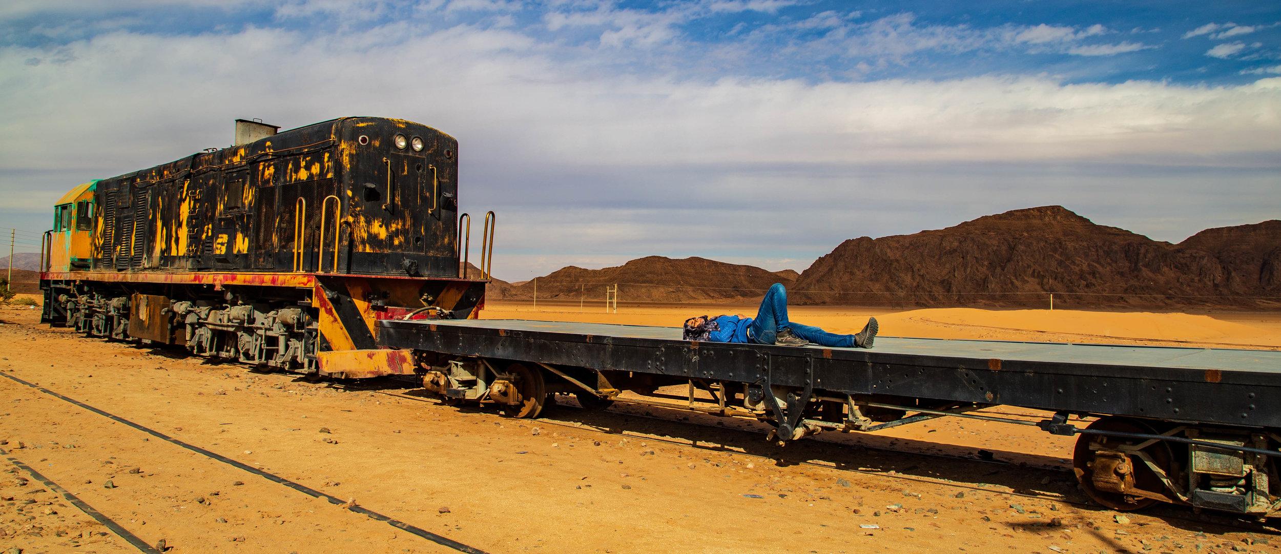 Train station in Wadi Rum