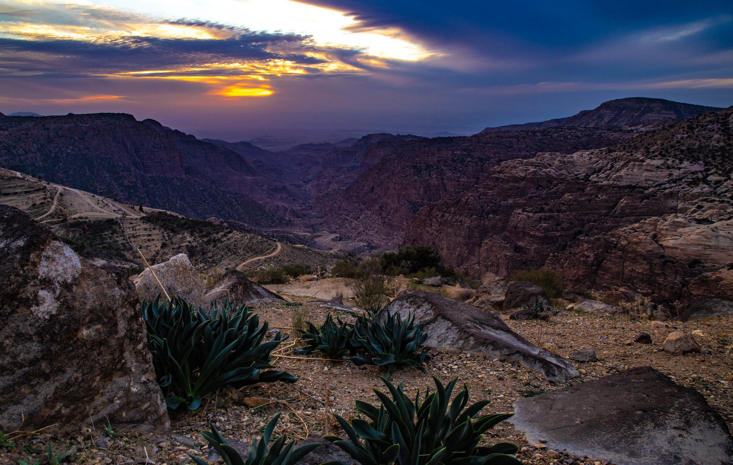 The View of Dana from near Wadi Dana Eco Camp