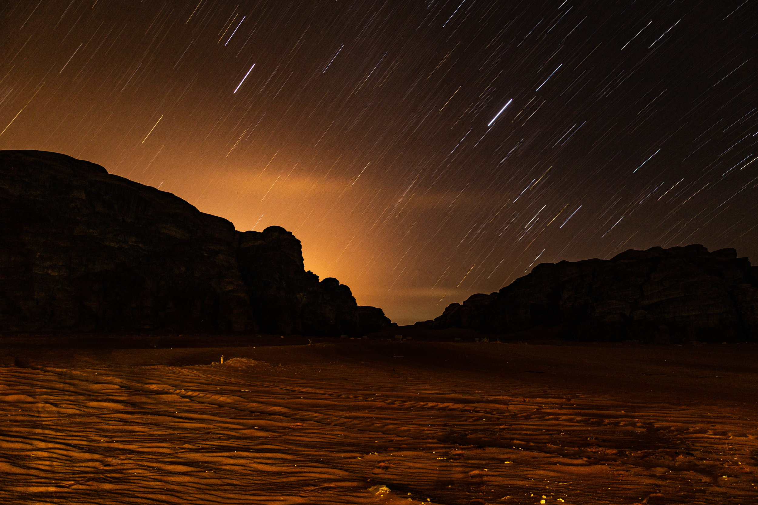 Wadi Rum star trails