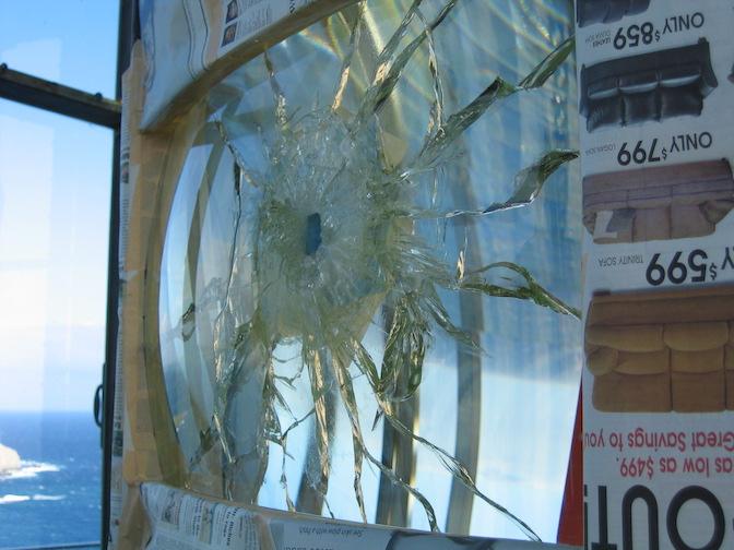 Damaged original hyper-radial belt lens