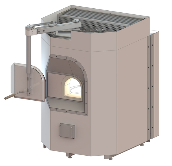 Electric free-standing crucible furnace design