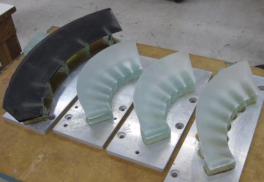 Diamon Head blanks mounted for maching