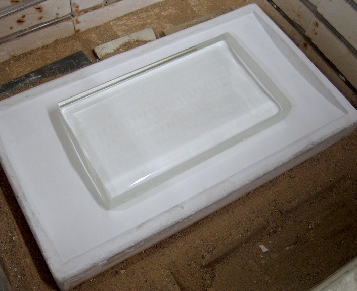 Investment mold in oven ready for sagging