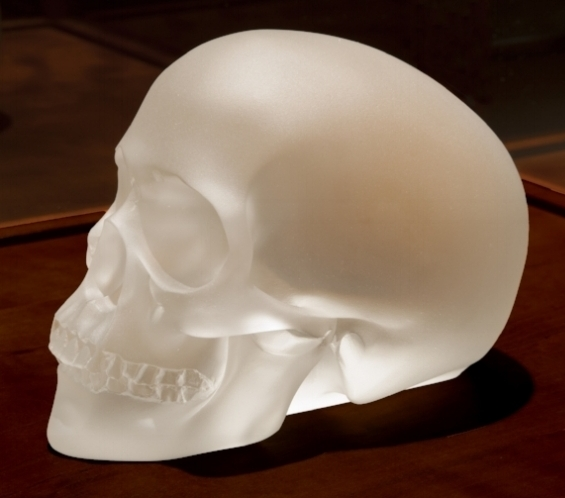 """Finished casting (""""Crystal Scull"""" Sherrie Levine)"""