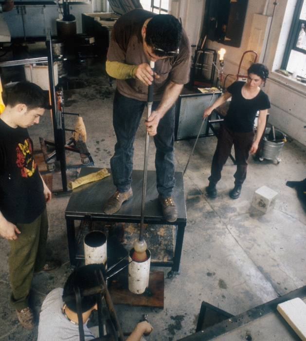 Mold blowing components for Bloomberg sculpture